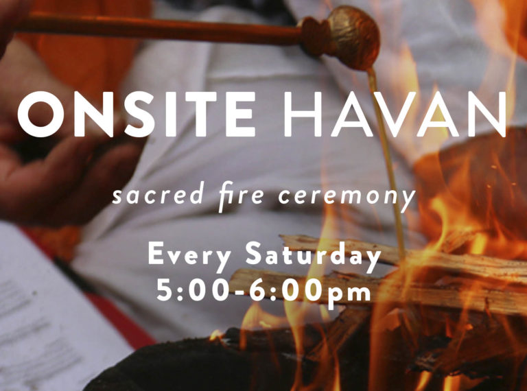 Havan (Sacred Fire Ceremony) – Every Saturday